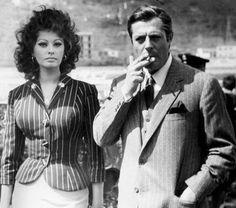 Sophia Loren & Marcello Mastroianni.