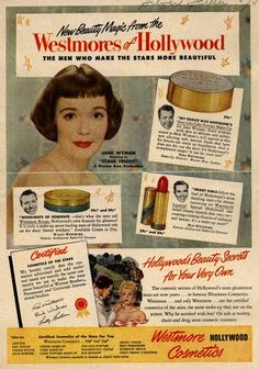 Hollywood's beauty secrets for your very own! #vintage_ad