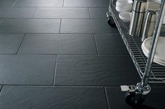 Dark Grey Kitchen Floor Tile, slate effect tiles from walls and floors slate effect tiles from walls Black Slate Floor, Slate Floor Kitchen, Grey Kitchen Tiles, Slate Bathroom, Dark Grey Kitchen, Kitchen Flooring, Grey Slate, Bathroom Black, Kitchen Backsplash