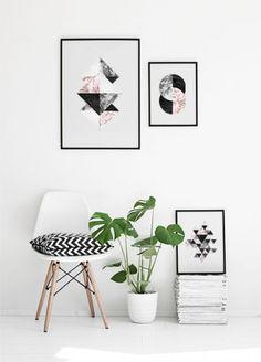 Scandinavian decor. Nordic interior design. Posters and art prints. Framed art. http://Desenio.com