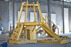 New playhouse construction! Play Structures, Playhouses, Challenges, Construction, Yard, Awesome, Design, Building, Patio