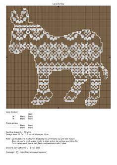 Cross-stitch Winter Donkey, part 5...