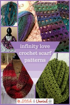 The cutest crochet infinity scarf patterns!