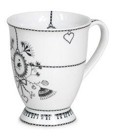 Take a look at this White Chain 9.5-Oz. Coffee Mug by Miss Blackbirdy on #zulily today! $8 !!