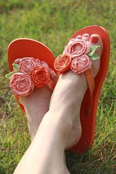 flip flops in the summer