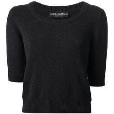 Dolce & Gabbana Cropped Jumper (2.170.765 COP) ❤ liked on Polyvore featuring tops, sweaters, shirts, crop tops, gray sweater, gray cashmere sweater, crop top, ribbed sweater and grey sweater