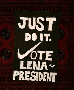 Nike logo class president poster