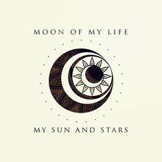 Moon of my life... My Sun and stars Art Print