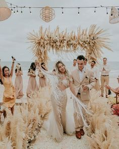 beach wedding inspiration The gorgeous details of this boho-beach wedding affair completely blew us away! Marie's Wedding, Hipster Wedding, Mermaid Wedding, Dream Wedding, Wedding Dresses, Boho Beach Wedding Dress, Beach Weddings, Wedding Ideas, Beach Wedding Colors