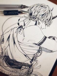 Amazing Drawings, Cool Art Drawings, Sketchbook Drawings, Art Sketches, Manga Drawing, Manga Art, Pretty Art, Cute Art, Anime Sketch