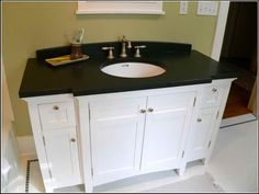 Don't like the color but the shape could work for guest vanity