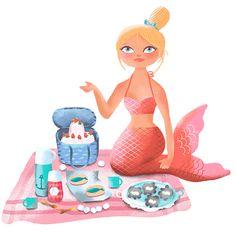 Mermaid picnic basket mermaid.fi