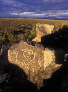 ✮ Jornada Mogollon Petroglyph site human figure, 5000 BC-900 AD - New Mexico