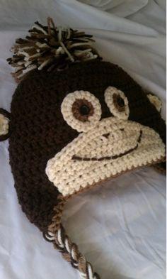 Monkey crochet hat ~ no pattern ~ Inspiration
