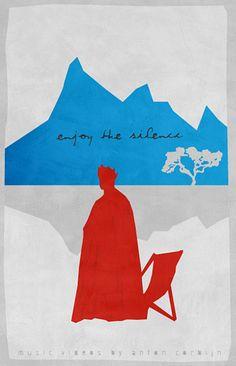 Posters for Anton Corbijn's music videos