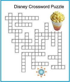 If you're looking for Disney crossword puzzles, we think you'll enjoy solving this one. Just print this puzzle, grab some popcorn and find a pencil! To complete this puzzle, you'll need to add the names of key characters from lots of Disney movies. Puzzles For Kids, Worksheets For Kids, Disney Games, Disney Films, Free Printable Crossword Puzzles, Disney Printables, Free Printables, Halloween Stencils, Word Search Puzzles