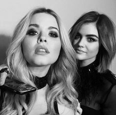Gorgeous picture of Lucy Hale and Sasha Pieterse from Pretty Little Liars!