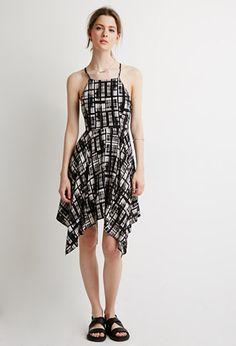Abstract Print Cami Dress   Love21 - 2049257497