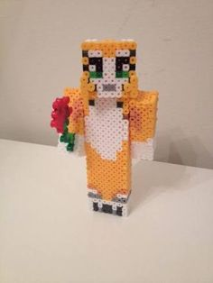 Stampy Cat Perler Skin by RetroNinNinja on Etsy.I really need to stop looking at stampy stuff before I explode of joy and happiness Minecraft Stampy, Minecraft Quilt, Minecraft Perler, Minecraft Crochet, Minecraft Room, Minecraft Stuff, Stampy And Squishy, Bead Crafts, Diy Crafts