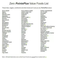 Weight Watchers- 0 point plus value foods