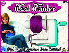 Yarn winder now selling in Hobby Lobby under their private label.  Makes nice round yarn cakes.