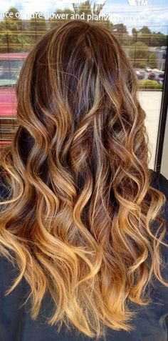 Balayage and ombre hair.
