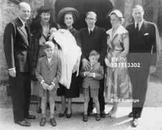 The 3 eldest children of Prince Frederick of Prussia and his wife Princess Brigid, nee Lady Brigid Guiness(on the right):  Prince Frederick Nicholas (b. 1946), Princess Victoria (b. 1952), and Prince Andrew (b. 1947).  The children and their family are gathered here for the christening of Princess Victoria.  Frederick and Brigid had 2 more children, twins Prince Rupert and Princess Antonia (b.1955).
