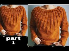 beautiful sweater knitting part 2 Butterfly Tree, Knitting Videos, Short Tops, Baby Knitting, Men Sweater, Pullover, Baby Knits, Crochet Tops, Neck Design
