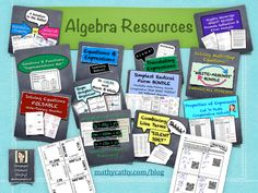 TOUCH this image: Algebra Resources by MathyCathy
