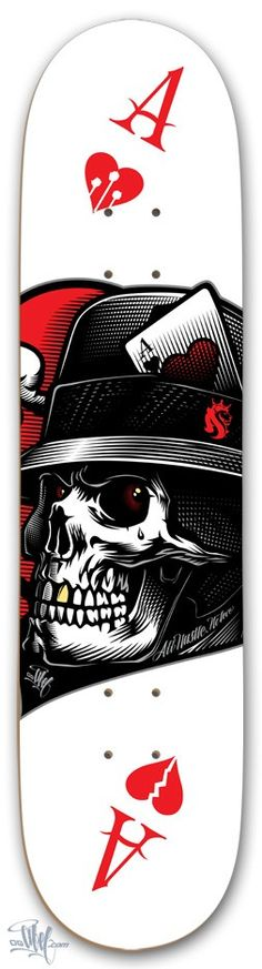 ☆ Ace Deck :: By OG ABEL ☆ Creative Boys Club » we love skulls www.creativeboysclub.com/tags/we-love-skulls‎ Skateboard Design, Skateboard Decks, Art Et Illustration, Illustrations, Memento Mori, Og Abel Art, Skate Longboard, Posca Art, Skate Art