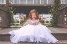Country Nautical Outdoor Wedding flowergirl navy