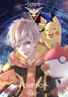Spark and Pikachu Best Pokemon Team, New Pokemon, Pokemon Fan, Pokemon Go Teams Leaders, Pokemon Go Images, Pokemon Go Team Instinct, Play Pokemon, Digimon, Pikachu
