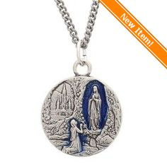 """Lourdes Water Medal with 20"""" chain"""