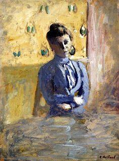 Woman in Blue - Edouard Vuillard ✏✏✏✏✏✏✏✏✏✏✏✏✏✏✏✏ IDEE CADEAU / CUTE GIFT IDEA  ☞ http://gabyfeeriefr.tumblr.com/archive ✏✏✏✏✏✏✏✏✏✏✏✏✏✏✏✏