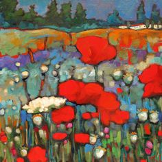 where poppies bloom
