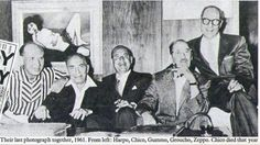 last picture of 5 marx brothers   The last photograph of all five brothers together. Chico died later ...
