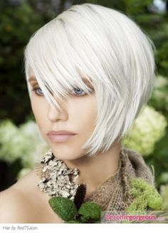 I really like the look of white hair, but I doubt I could ever pull it off.