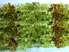 Green Garnet marquise faceted beads strands (Code-22\57).. #garnet #greengarnet #marquisefacetedbeads
