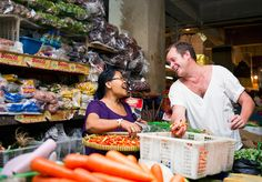 Will Meyrick is shopping for spices in local Balinese market. Photo courtesy of Will Meyrick via The Jakarta Post Travel...