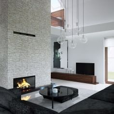Salas de estar modernas por HomeKONCEPT   Projekty Domów Nowoczesnych