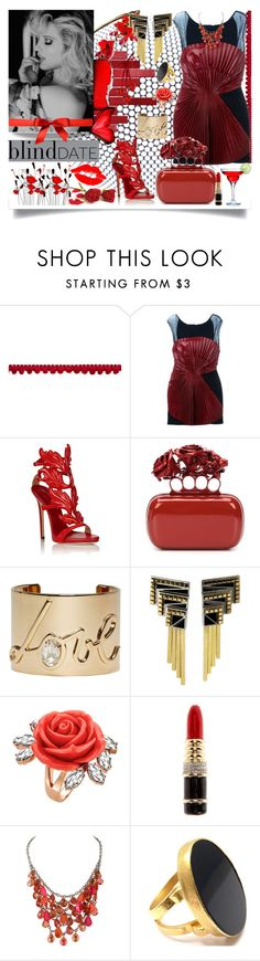 """Blind Date"" by jeneric2015 ❤ liked on Polyvore featuring Jay Ahr, Giuseppe Zanotti, Alexander McQueen, Lanvin, Erté, Mawi, Kenneth Jay Lane, Yossi Harari and blinddate"