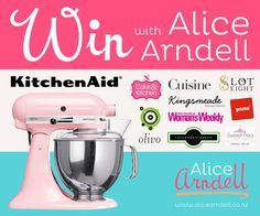 Win a KitchenAid mixer plus loads of other prizes with www.alicearndell.co.nz