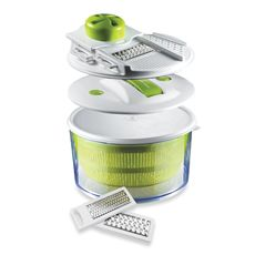 The Sharper Image 4-In-1 Salad Spinner Mandoline Slicer.  People seem to hate it or love it.  We are currently in the latter camp.