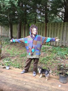 **patchwork hoodie**  Completely customized to your fit and color scheme.  Sizes: Medium Large X-large Xx-large  One large hood Cowl hood or pointy hood optional At least Two deep pockets  Zippers : $15  Forward the measurement chart for specific measurements,