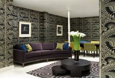 Leaf Fall fabric and Mumtaz wallpaper by Osborne & Little www ...