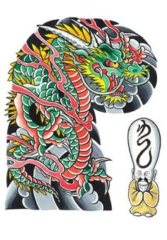 from Garyou Tensei. 108 Japanese tattoo sleeve designs by Yushi 'Horikichi' Takei Japanese Tattoos For Men, Japanese Dragon Tattoos, Traditional Japanese Tattoos, Japanese Tattoo Art, Japanese Tattoo Designs, Japanese Sleeve Tattoos, Dragon Tattoo Drawing, Dragon Sleeve Tattoos, Japan Tattoo Design