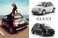 Fiat goes couture with the 2012 Fiat 500 Gucci..Just seen one pass me buy..Honolulu, HI
