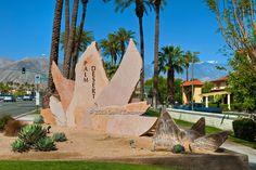 Palm Desert, CA, Highway 111,  picture-postcard, floral, Art Sculptures, statue, Public Art, Statues, California;
