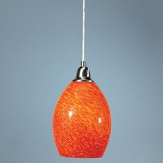 Satin Nickel Cracked Eggshell Shaped Pendant Light -