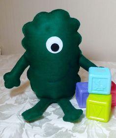 Monster Green Felt Monster Toy Monster Friendly by DaisyFelts